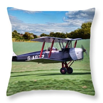 De Havilland Tiger Moth Throw Pillow