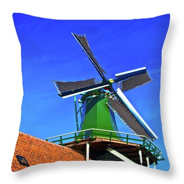 Throw Pillow featuring the photograph De Huisman Spice Mill by Jonah  Anderson
