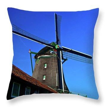 De Zoeker Blue Skies Throw Pillow by Jonah  Anderson