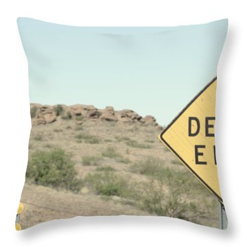 Throw Pillow featuring the photograph Dead End by Utopia Concepts