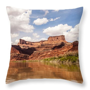 Dead Horse Point Throw Pillow by Daniel Hebard