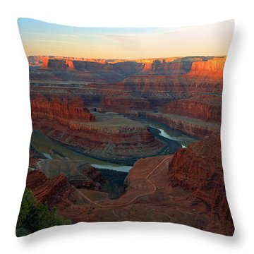 Throw Pillow featuring the photograph Dead Horse Point by Johnny Adolphson