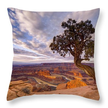 Dead Horse Point Sunrise Throw Pillow