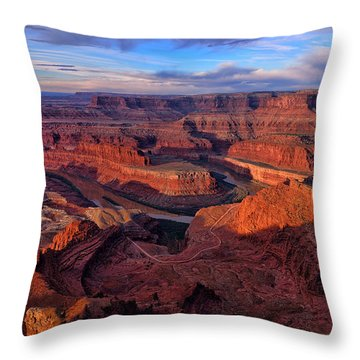 Throw Pillow featuring the photograph Dead Horse Point Sunrise by Greg Norrell