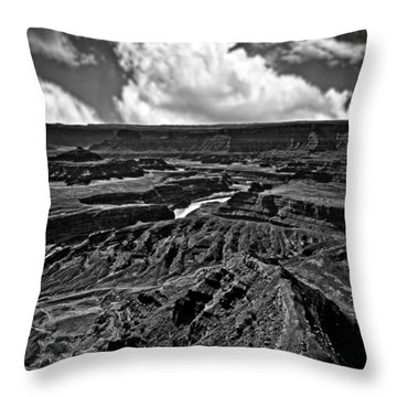 Dead Horse Point Utah Throw Pillow by Bob and Nadine Johnston