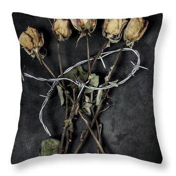 Dead Roses Throw Pillow by Joana Kruse