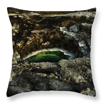 Dead Sea Sink Holes Throw Pillow by Dan Yeger