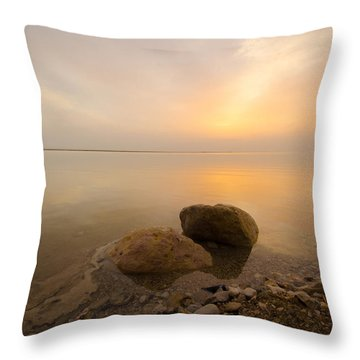 Dead Sea Sunrise Throw Pillow
