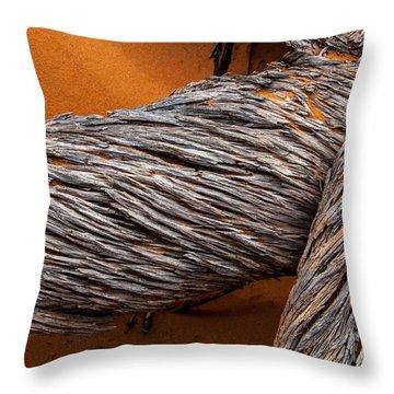 Dead Utah Juniper Orange Sand Arches National Park Throw Pillow