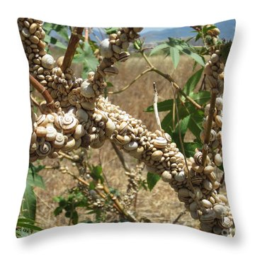 Deadly Beauty Throw Pillow