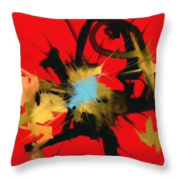 Deadly Fight Throw Pillow by Martina  Rathgens