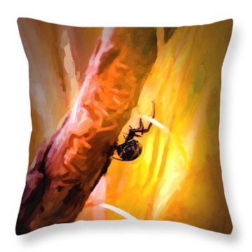 Deadly Throw Pillow by Jon Burch Photography