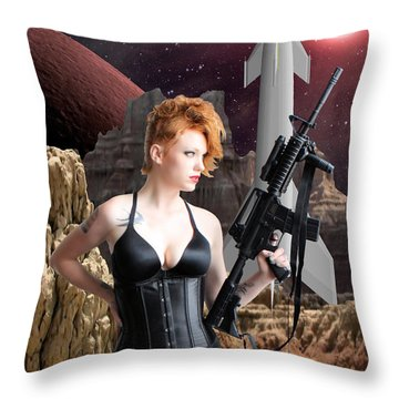Deadly Planet Throw Pillow