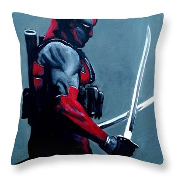 Deadpool Throw Pillow