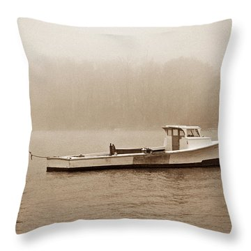 Deadrise Waiting Throw Pillow