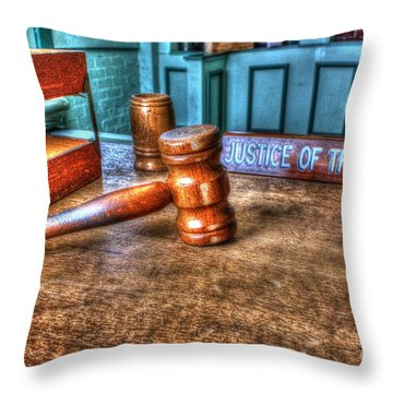 Dealing Justice Throw Pillow