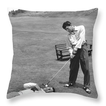 Dean Martin & Jerry Lewis Golf Throw Pillow