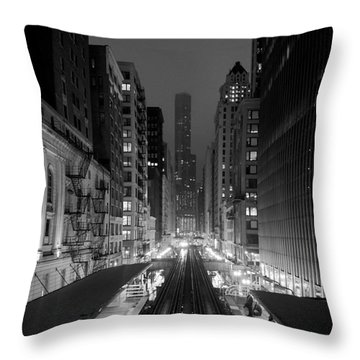 Dear Chicago You're Beautiful Throw Pillow by Peta Thames