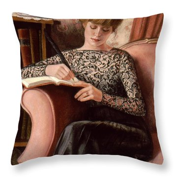 Dear Diary Throw Pillow