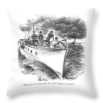 Dear Me! To Think That This Could Happen In 1940! Throw Pillow