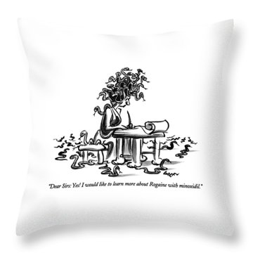 Dear Sirs: Yes!  I Would Like To Learn More Throw Pillow