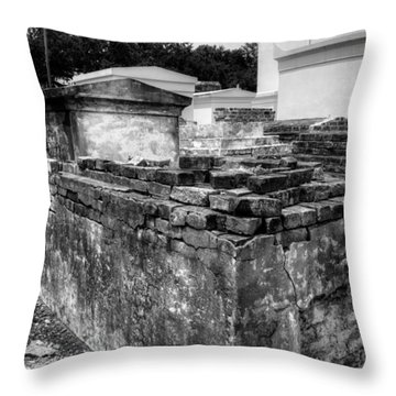 Death And Decay In Black And White Throw Pillow