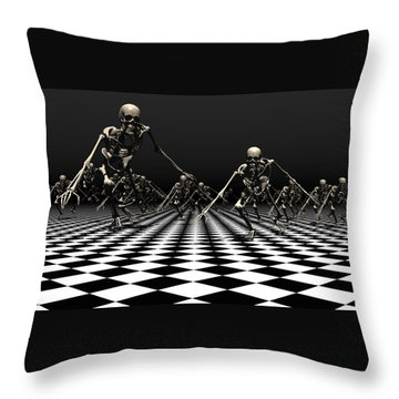 Death Approaches Throw Pillow
