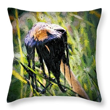 Death Of A Mushrrom Throw Pillow