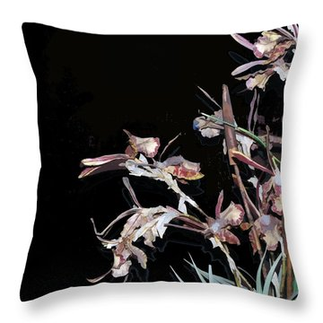 Death Of An Orchid  Throw Pillow