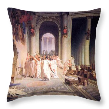 Death Of Caesar Throw Pillow