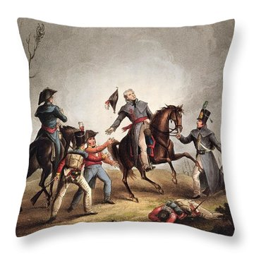 Death Of Sir John Moore January 17th Throw Pillow