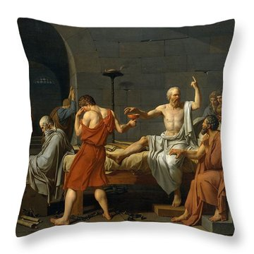 Death Of Socrates Throw Pillow