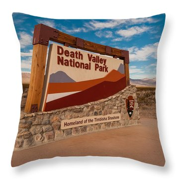 Death Valley Entry Throw Pillow
