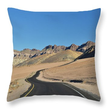 Throw Pillow featuring the photograph Death Valley Meander by Dana Sohr