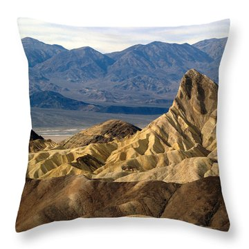 Death Valley Np Zabriskie Point 11 Throw Pillow