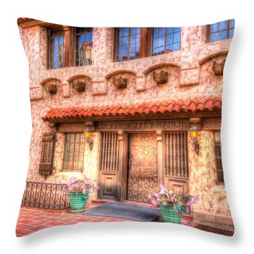 Death Valley Ranch Throw Pillow by Heidi Smith