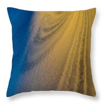Death Valley Sunset Dune Wind Spiral Throw Pillow