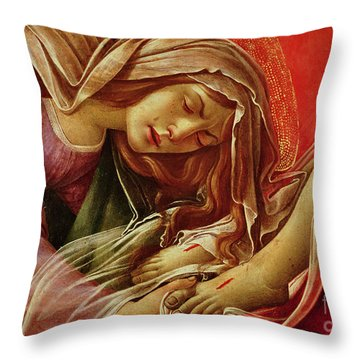 Deatil From The Lamentation Of Christ Throw Pillow