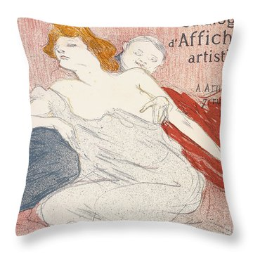 Debauche Deuxieme Planche Throw Pillow by Henri de Toulouse-Lautrec