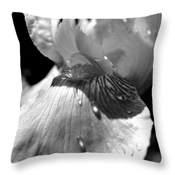 Debbie's Iris Throw Pillow