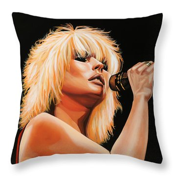 Deborah Harry Or Blondie 2 Throw Pillow