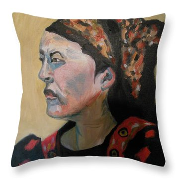 Deborah The Warrior Throw Pillow by Esther Newman-Cohen