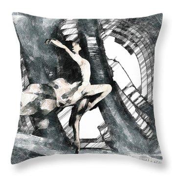 Debut Throw Pillow by Marina Likholat