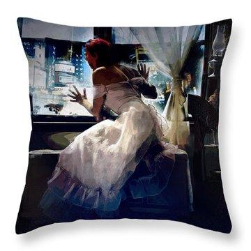 Throw Pillow featuring the digital art Decade Dance by Galen Valle