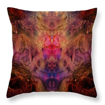 Decalcomaniac Mirror Throw Pillow