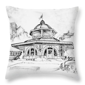 Decatur Transfer House Throw Pillow