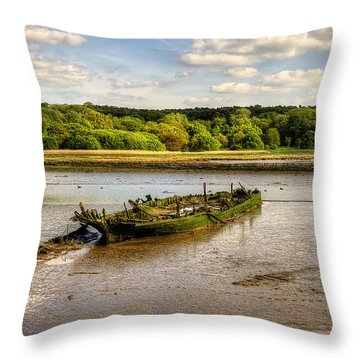 Decay Boats Throw Pillow by Svetlana Sewell