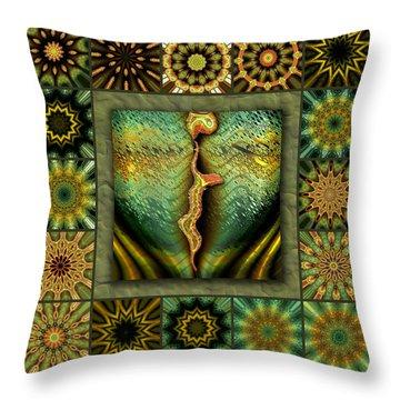 Decaying Moon Redux Throw Pillow