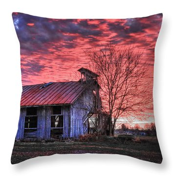 December At Bristol Park Throw Pillow by Jaki Miller