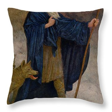 December Throw Pillow by Hans Thoma